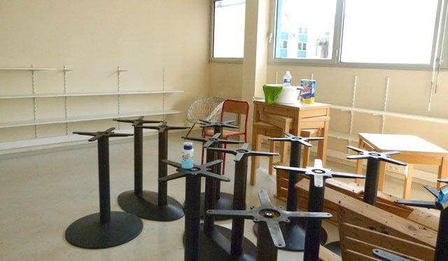 La classe Montessori des 3-6 ans avant les travaux d'aménagement